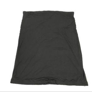 Women Black Stretch Long Skirt Plus 3X